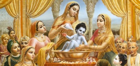 baby krishna bath - Copy